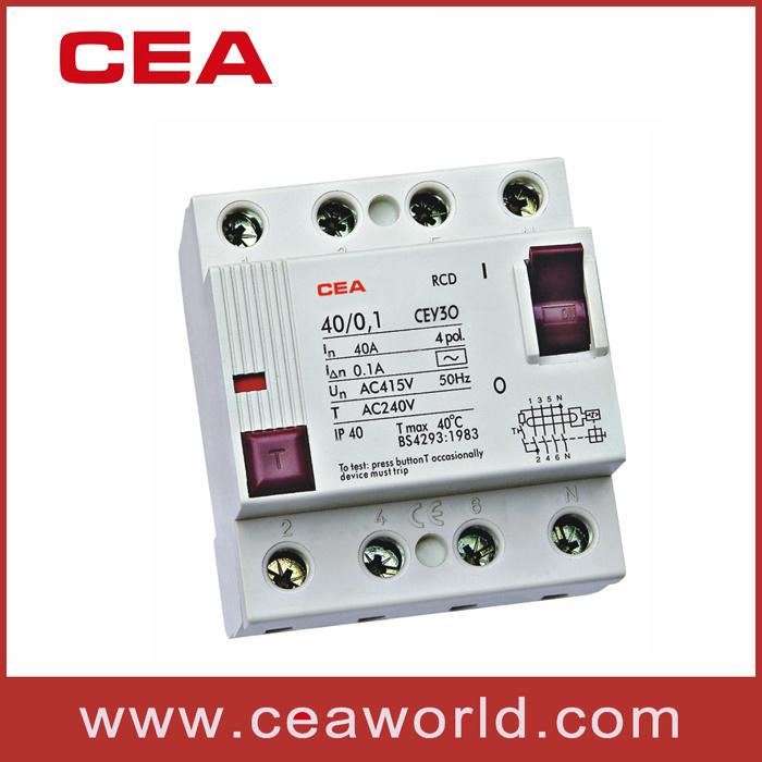 Cey30 4p Series Residual Current Circuit Breaker