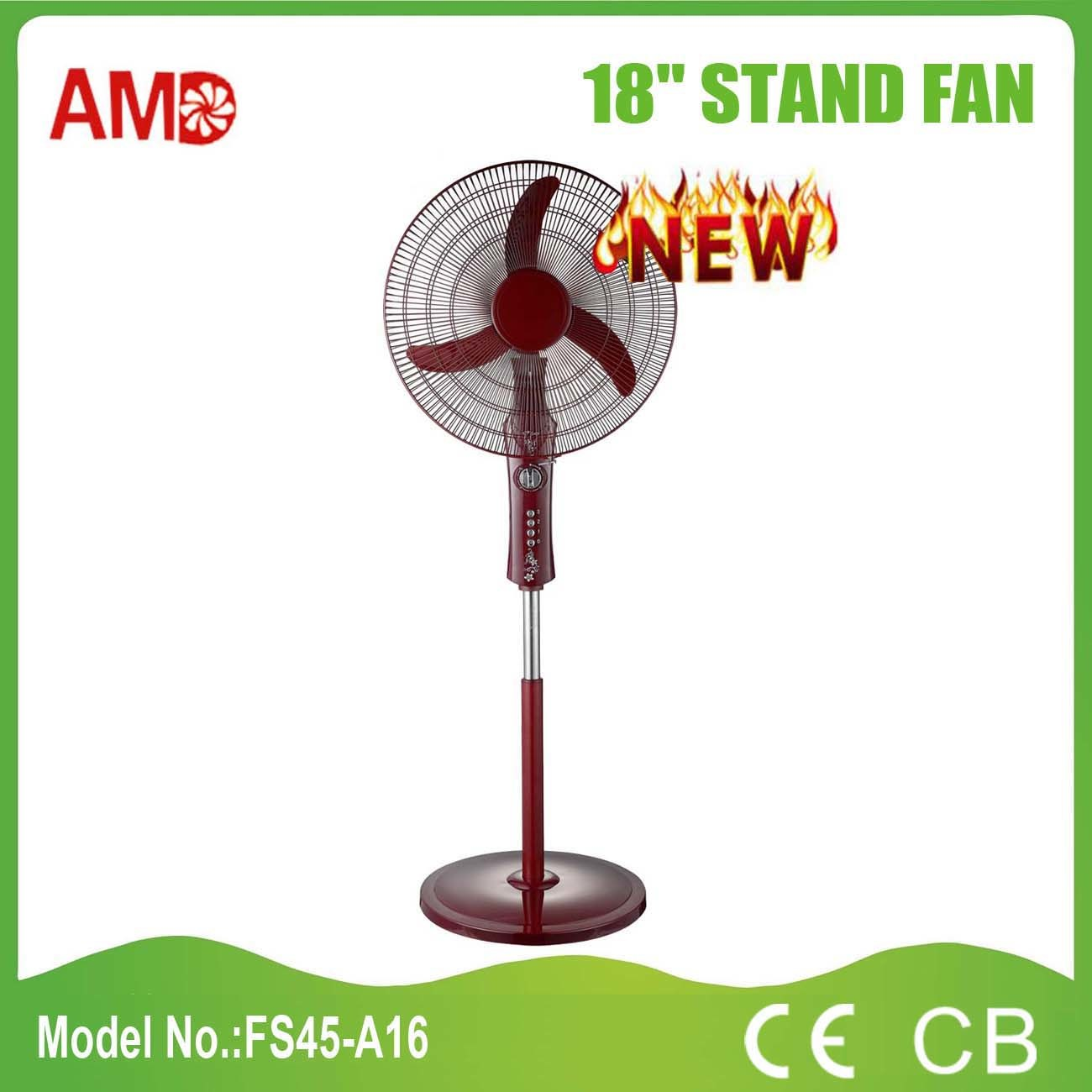 "Hot-Sale Good Design 18"" Stand Fan with Ce CB Approved (FS45-A16)"