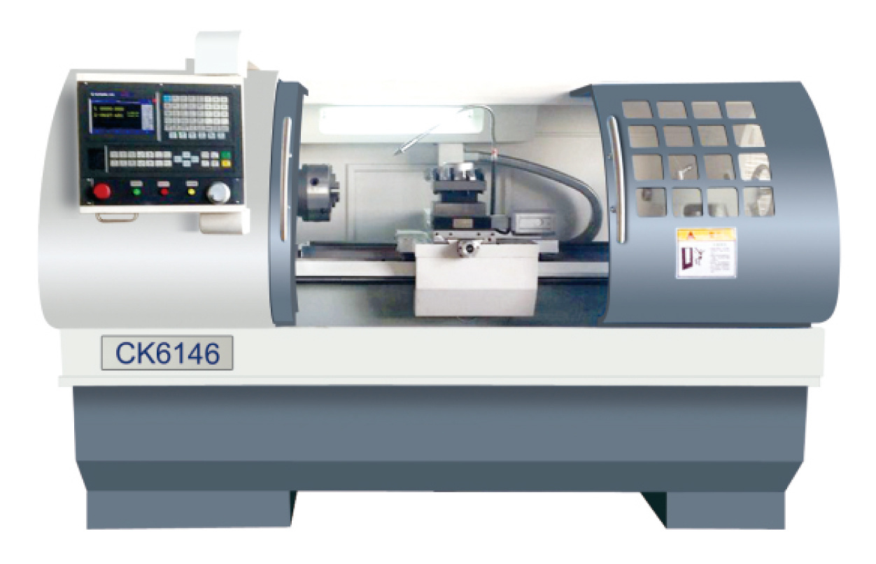 CNC-Lathe-with-Flat-Hardened-Rail EK6146X750