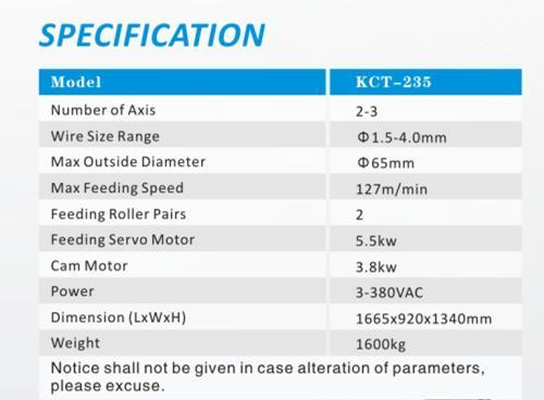 Kct-35A 2-3 Axis High Speed Spring Coiling Machine&CNC Spring Bending Machine