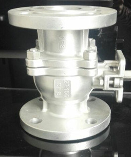 High-Platform Pad Flanged 150lb Stainless Steel Ball Valve