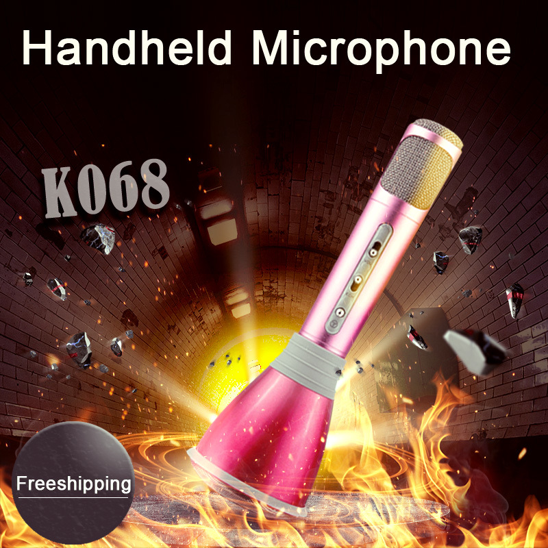 K068 Wholesale Bluetooth Wireless Portable Mini Microphone Karaoke Speaker Mic