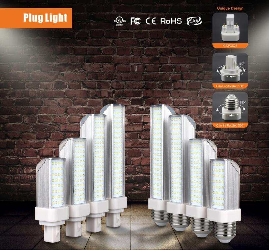 10W E26/E27/G24 LED Plug Light CFL Replacement Lamp, 3 Year Warranty, Ce RoHS UL cUL
