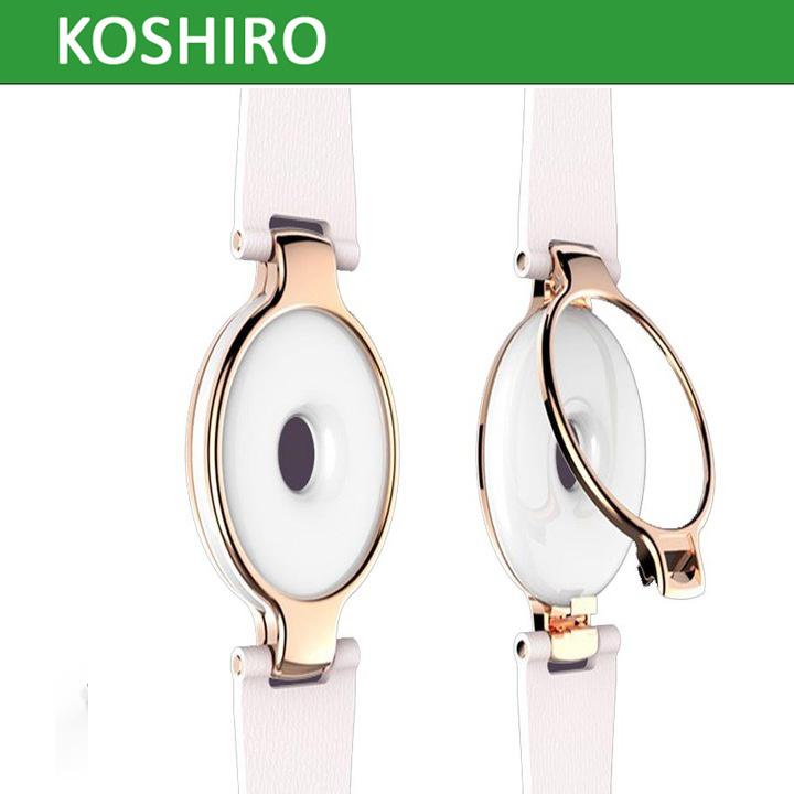 2017 Fashion Ladies Smart Bracelet with Ceramics Leather Material