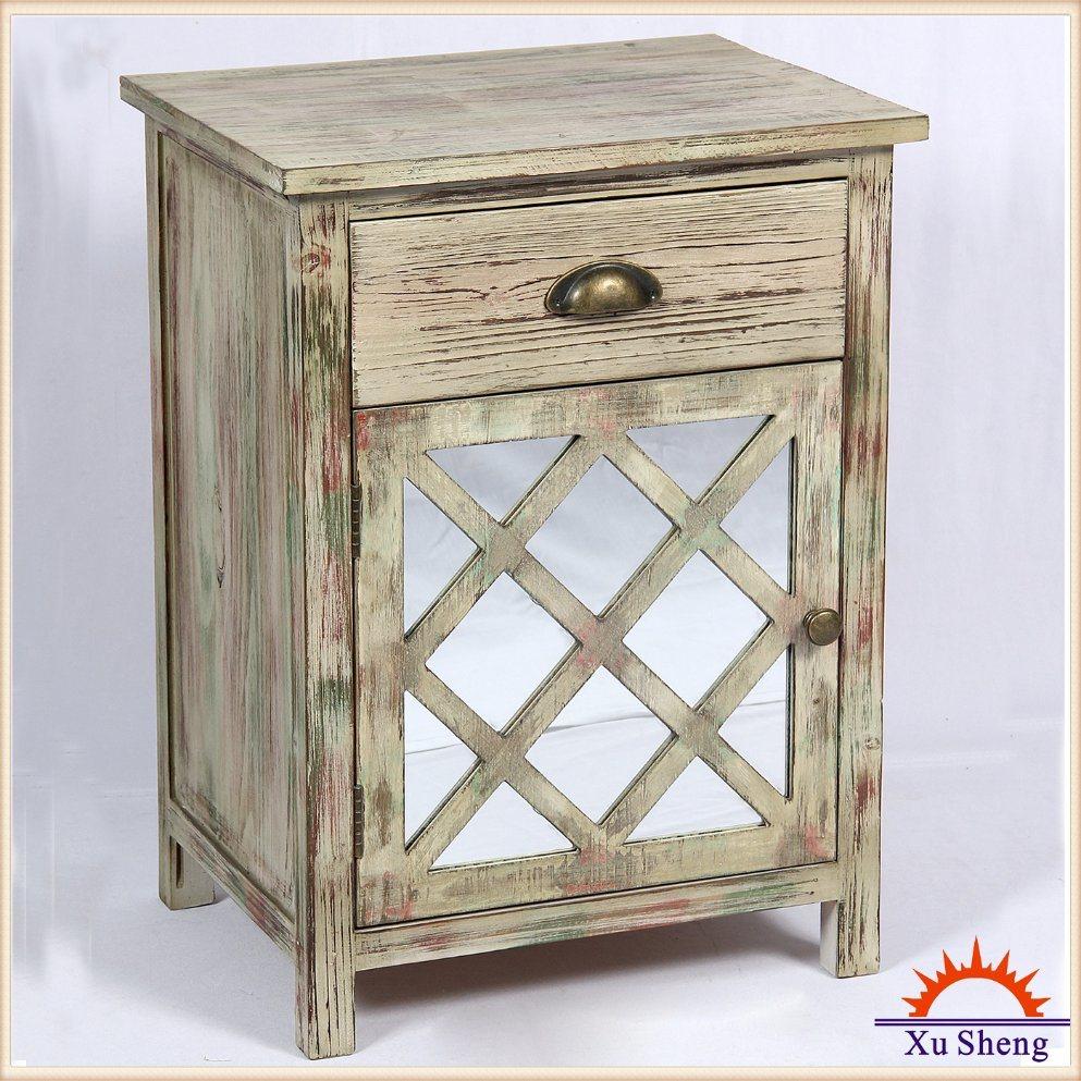 Antique Vintage Wooden Mirror Furniture for Living Room