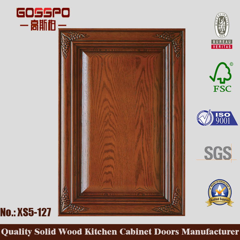 Korean Style Teak Kitchen Cabinet Door (GSP5-040)