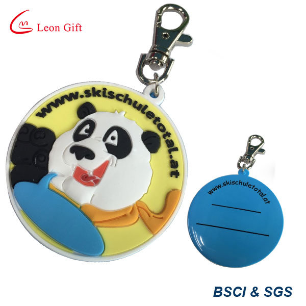Customized Emboss Logo Rubber/PVC Keyring