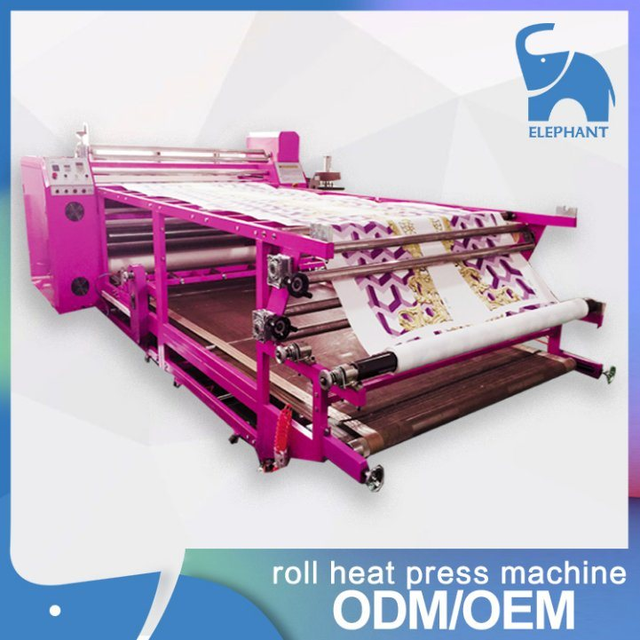 Factory Supply Poller Heat Transfer Press Machine for Fabric Textile