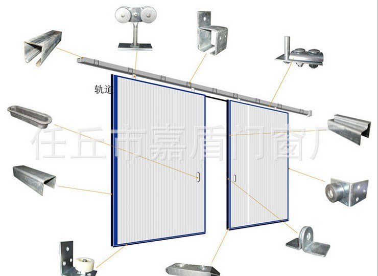 Industrial High Speed Sheet Fast Acting Sliding Sectional Door (Hz-FC0310)
