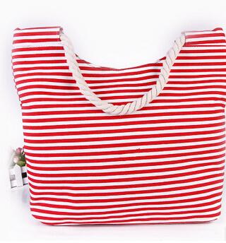 Fashion Lady Handbag Canvas and PU Leather Bag Beach Bag with Flowers (BDX-161059)