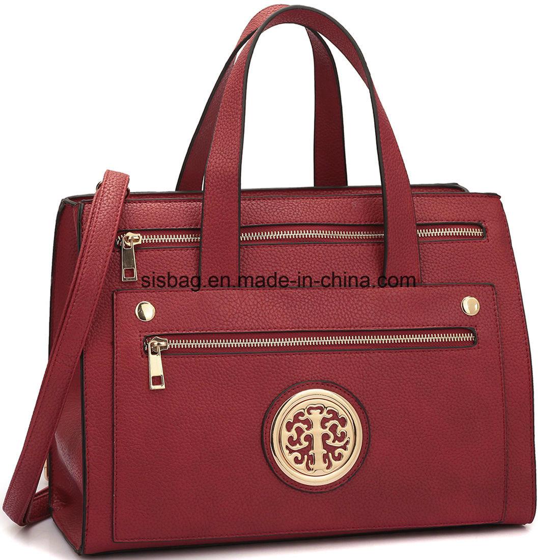 Designer Litchi Grain PU Leather Women Handbag Messeger Bag