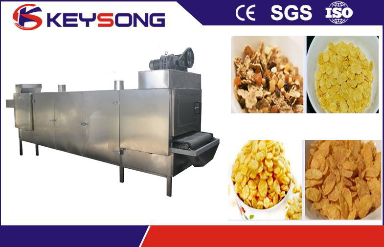 Stainless Steel Puff Snacks Food Mesh Belt Dryer