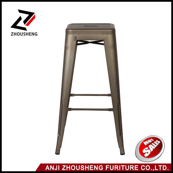 """30"""" Indoor and Outdoor Metal Counter Bar Stools Sturdy and Stackable Vintage Tolix Style Chair"""