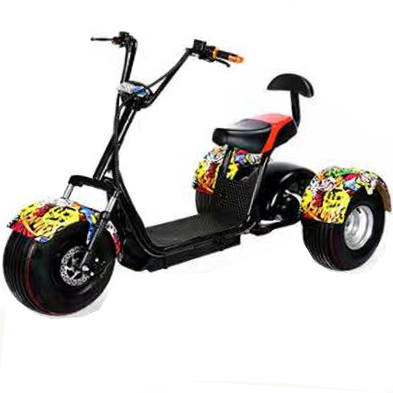 Harley Citycoco Electric Tricycle with 1000W Shaft Motor