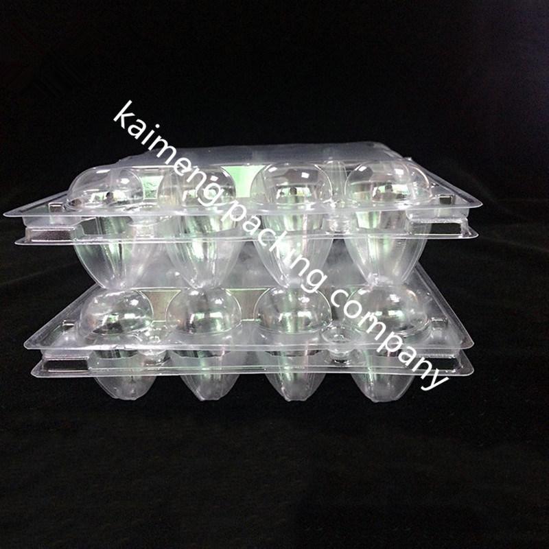 Wholesale 12PCS Egg Package Clear Plastic Egg Case for Quails (plastic egg case)