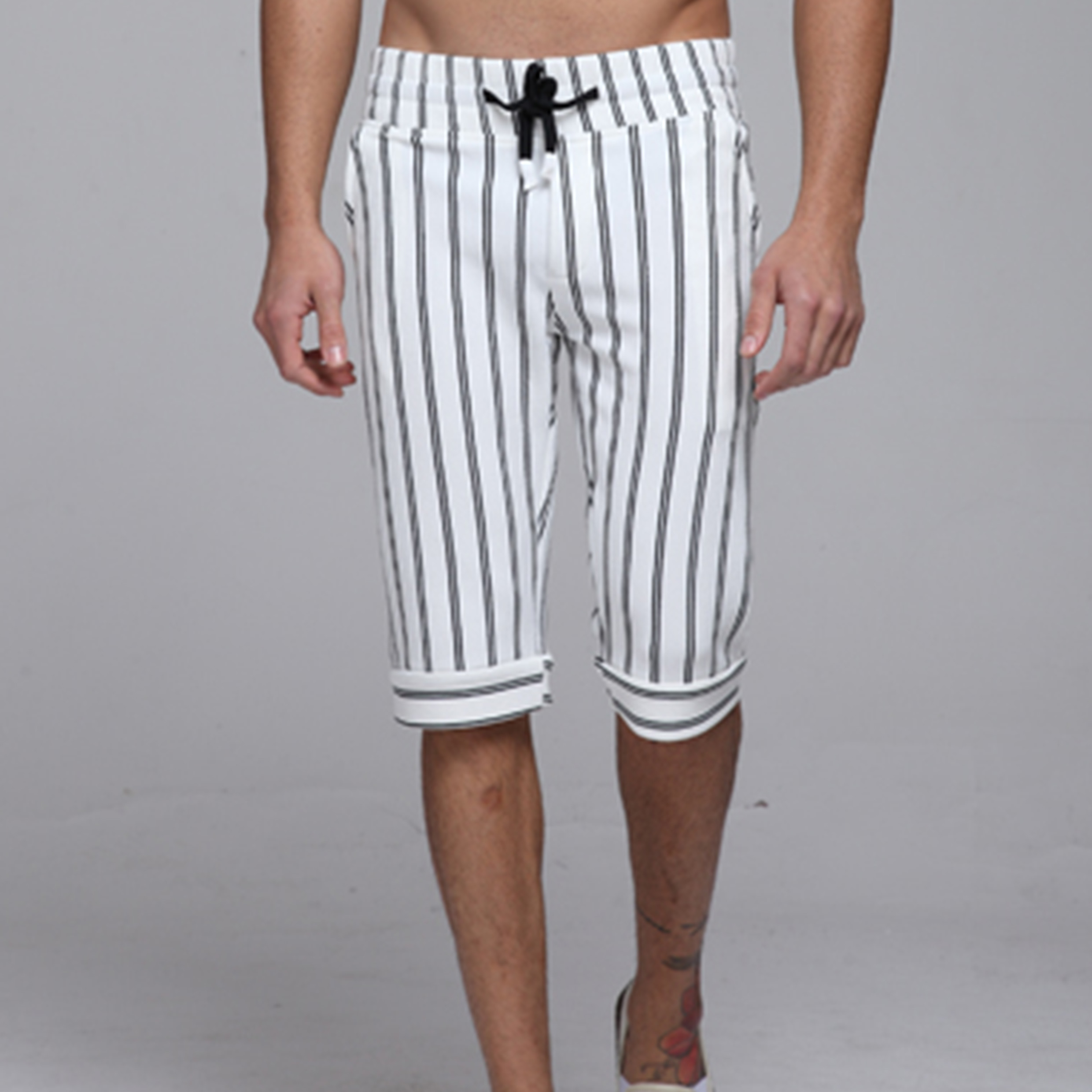 Men′s Fashion Casual Preppy Style Stripe Pants