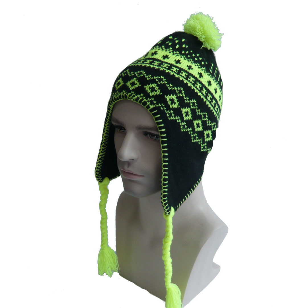 Complex Design Warm Ear Knitted Hat
