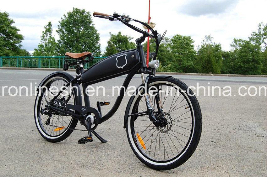 School Style or Beach Cruiser 250W/350W/500W Retro Classic Vintage Electric Bicycle/Electric Bike/E Bicycle/E Bike/Pedelec W Hidden Battery En15194, Ce