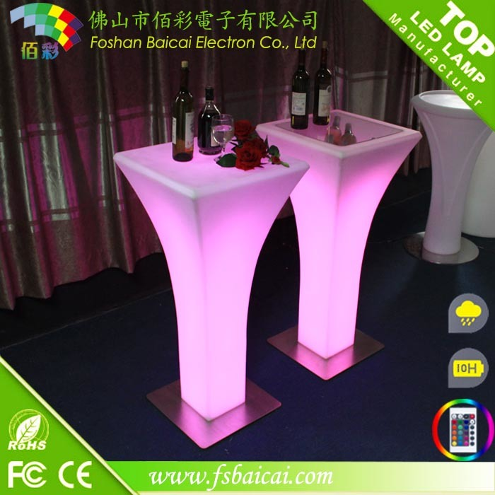 Illuminated LED Glow Bar Table, LED Outdoor Table