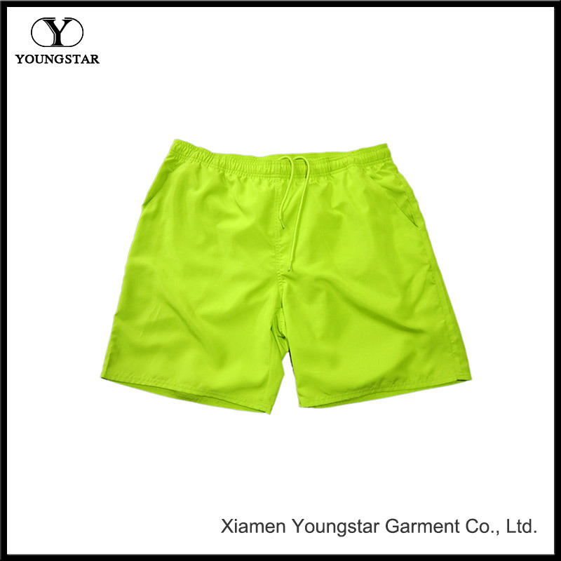 Mens Surf Shorts 18 Inch Solid Color Mens Green Board Shorts