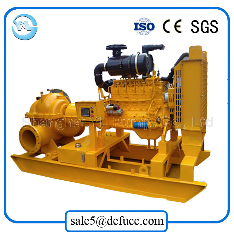 Large Volume Double Suction Diesel Engine Centrifugal Drainage Pump