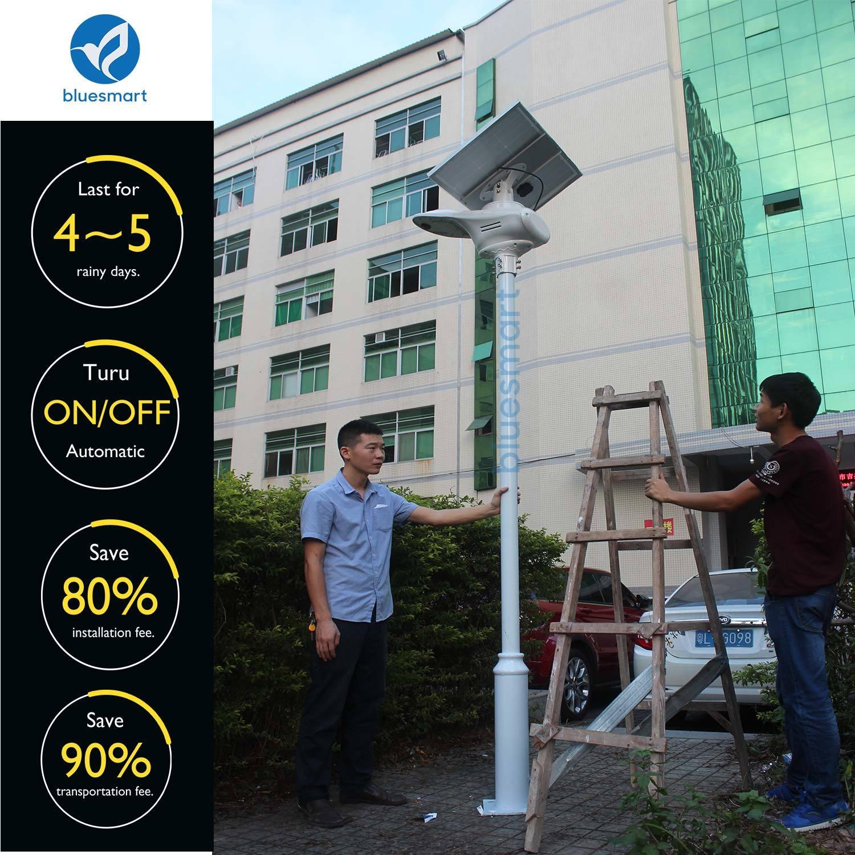 2017 Fly Hawk Light Outdoor Integrated Adjustable Solar Street Light with Remote Control Motion Sensor
