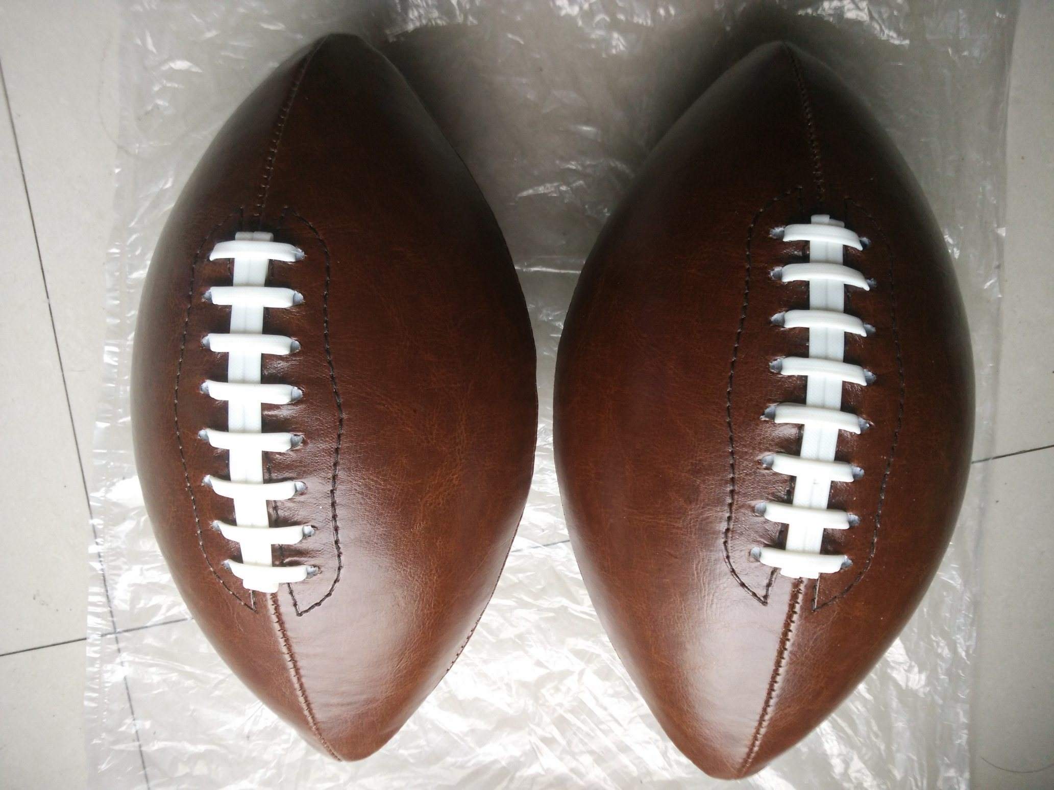 6# PVC Machine Stitching Brown American Football