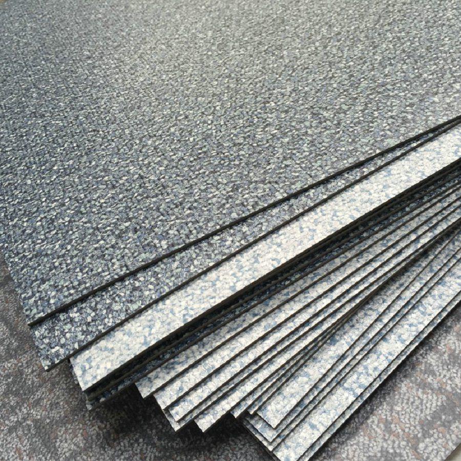 "Carpet Grain PVC Luxury Vinyl Flooring Tiles (18""X18"")"