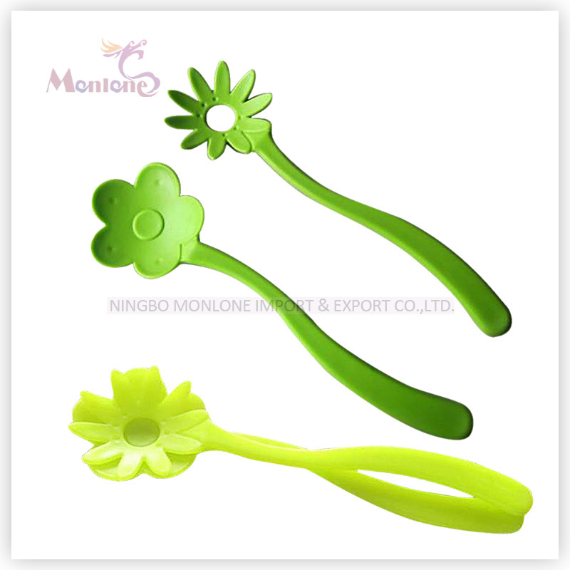 Vegetable Tool Plastic PP Flower-Shaped Salad Spoon 9*31.5cm
