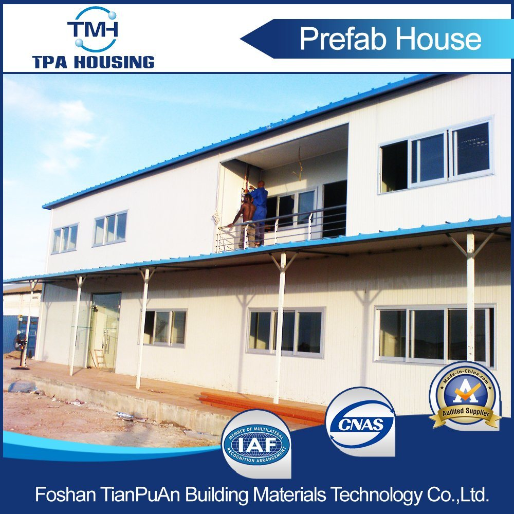 2 Floor Steel Frame Prefab House for Temporary Working Office