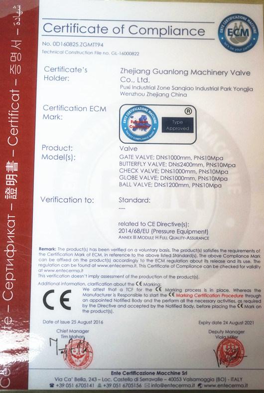 Wafer Type Swing Slim Check Valve (H74 W/H/N/X/F) Non Return