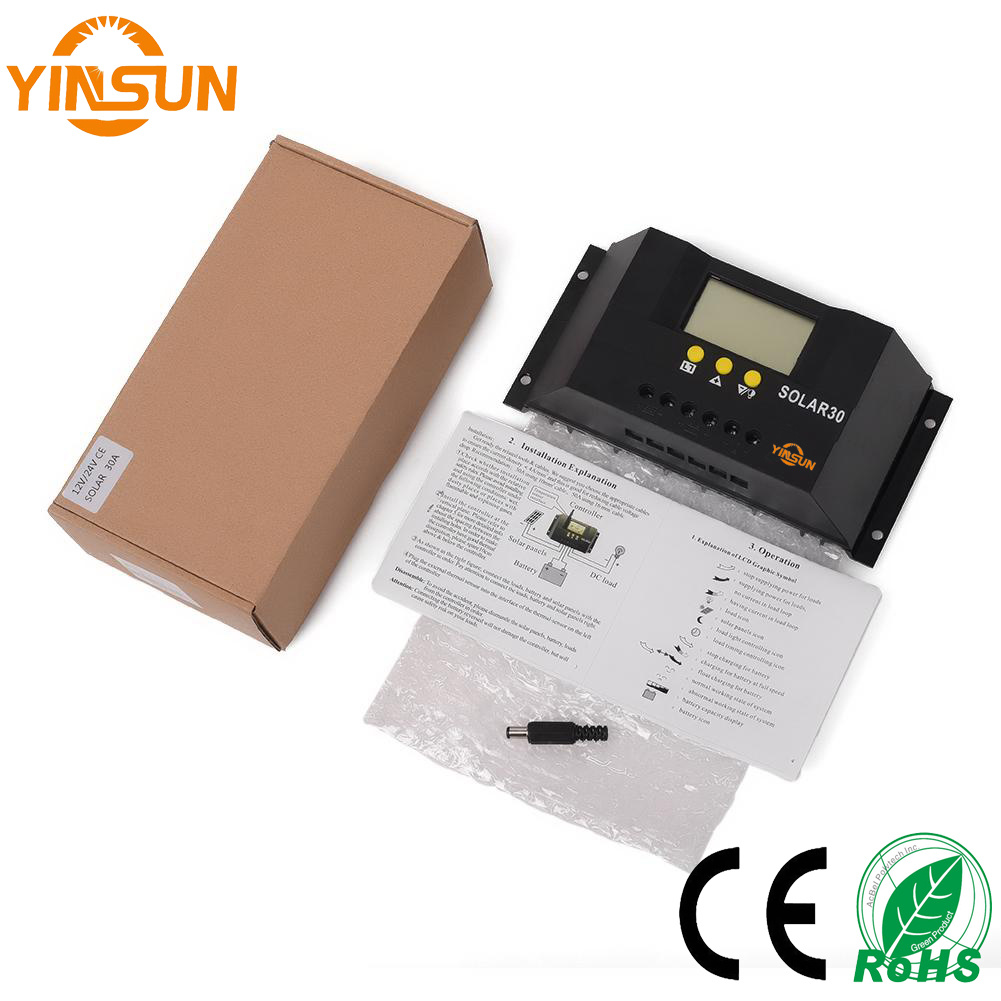 30A 12V/24V Solar Charger Controller with Solar Panel for Solar Power System
