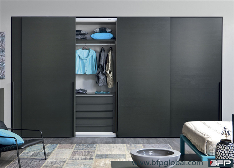 Modern Laminated Sliding Door Bedroom Closet