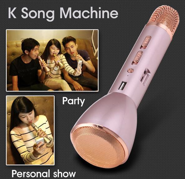 New Portable Karaoke Mini Magic Wireless Karaoke Player Microphone Bluetooth Speaker