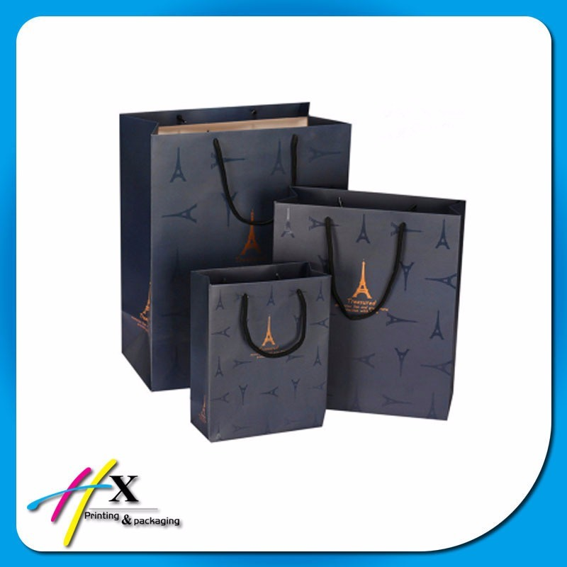 Fashion Custom Printed Paper Gift Bags Christmas Garments/Cosmetic Packaging Bags
