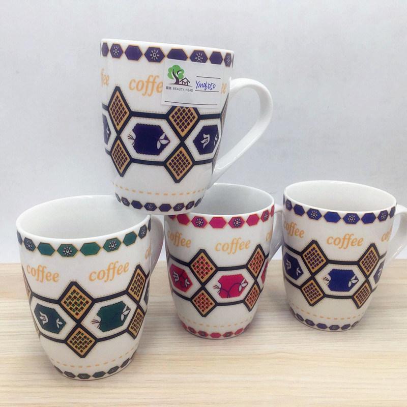 2017 Best Sell Fashionable Design New Bone China Decal Mug