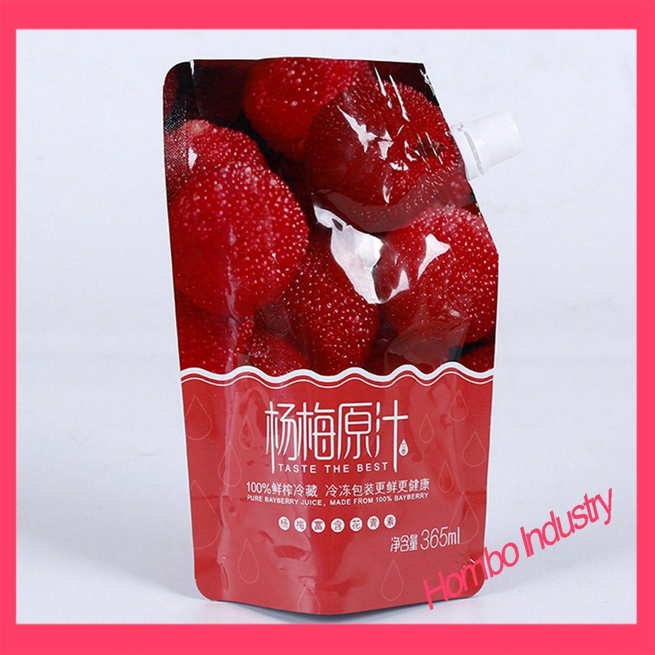 Custom Liquid Oblique Mouth Bag Drinks Jelly Bags