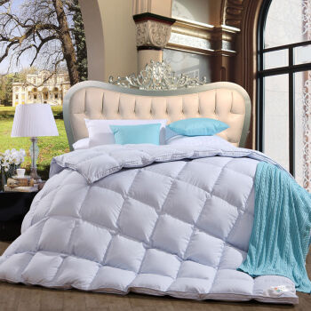 Cotton Cover Luxury White Goose Down Duvet for Home