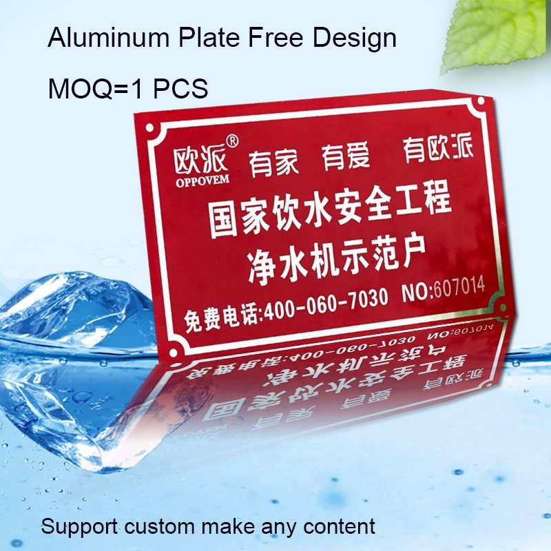 High Quality Equipment Nameplate with Aluminum Material