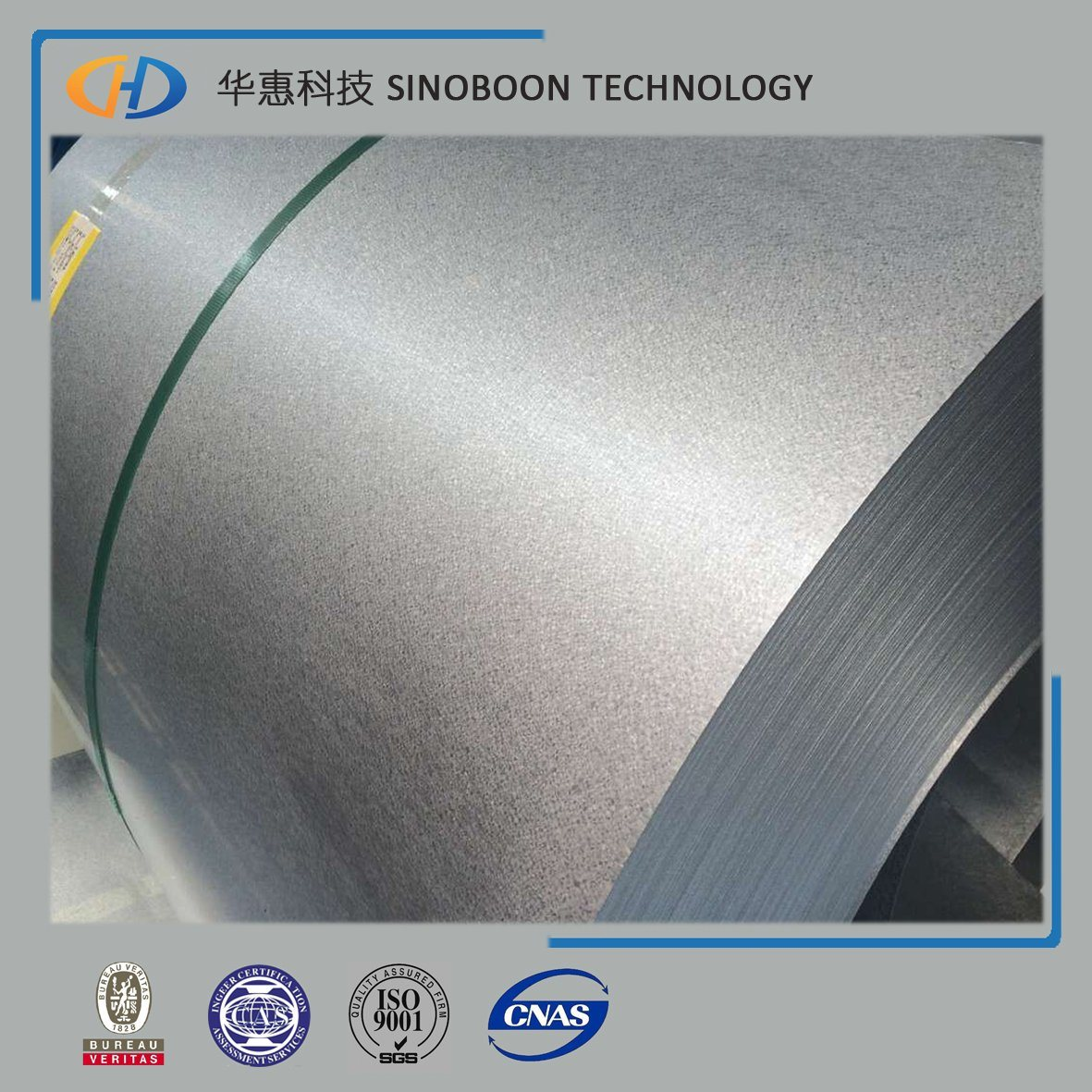 High Quality Steel Coil of 55% Al Green Anti-Figure Gl