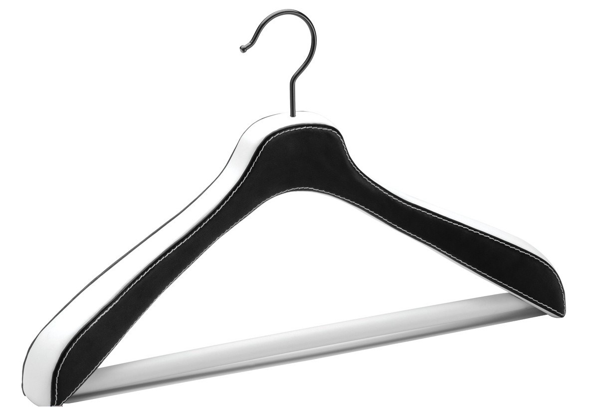 Leather jacket hanger
