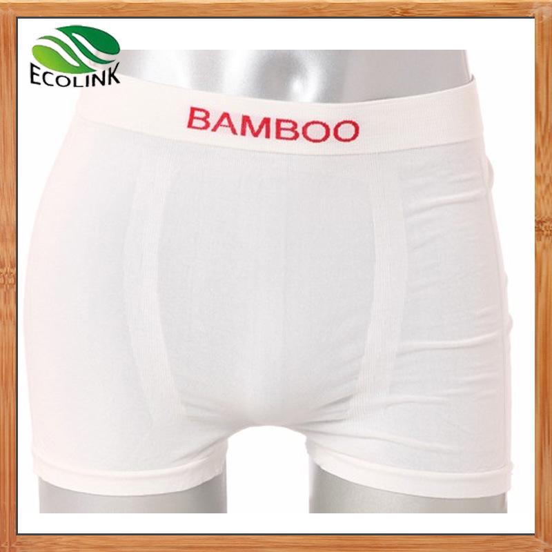 Bamboo Fiber White Seamless Underwear for Men′s