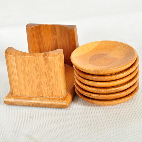 Round Custom Bamboo Products Coaster for Tableware
