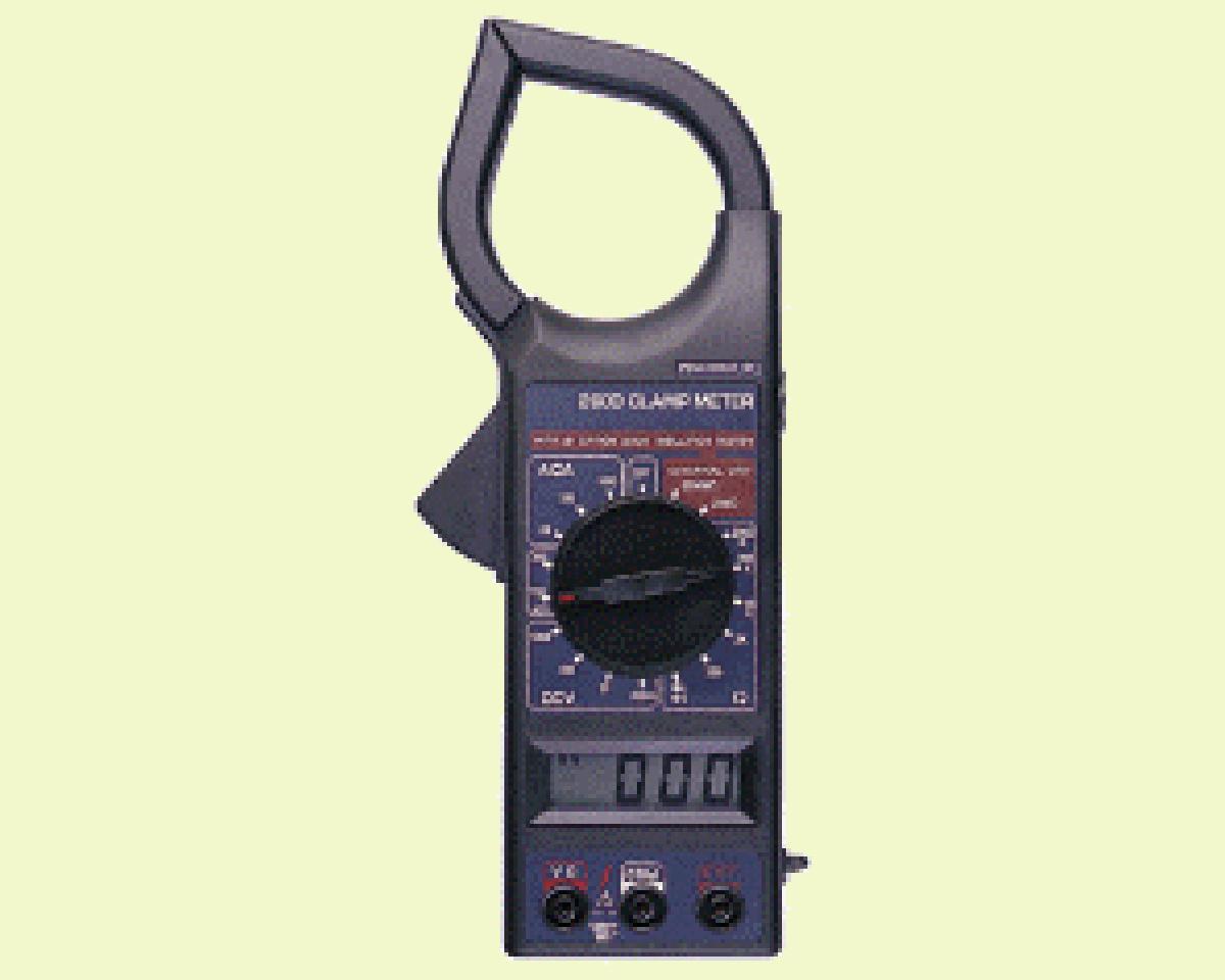 Digital Clamp Meter : Clamp meter peak hold