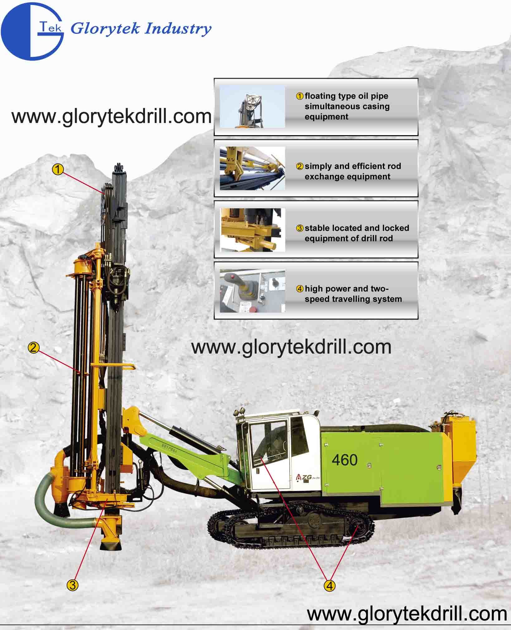 460 Air Compressor Built-in Copper Mine Drilling Rig