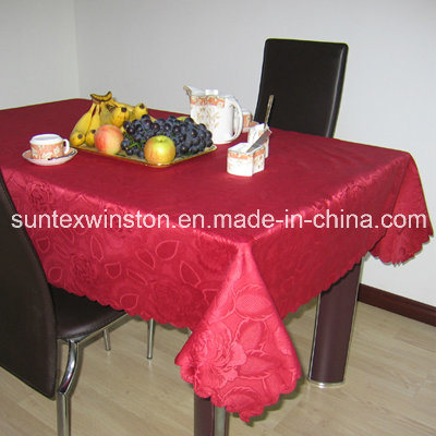 100% Polyester Table Cloth for Wholsale