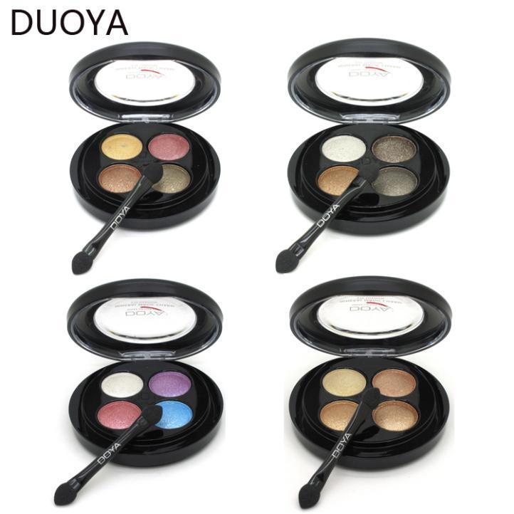 Mineral 4 Color Waterproof Eyeshadow Powder Makeup Matte for Eye Makeup