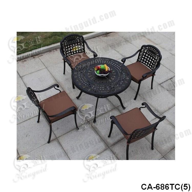 Cast Aluminium Table Chair, Outdoor Furniture, Ca-686