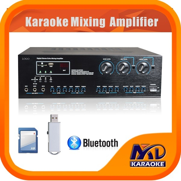 Digital Karaoke Amplifier Mixer Bluetooth SD Card USB Slot 250 X 250W