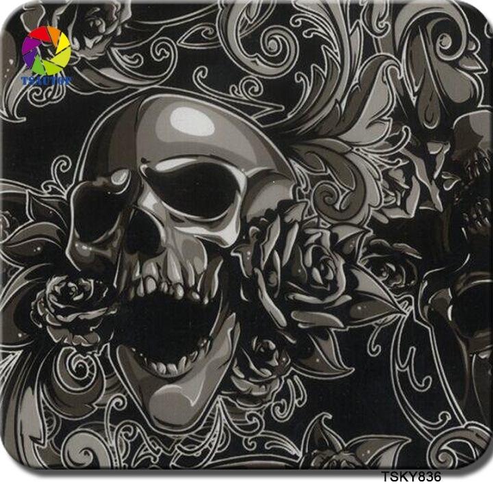 Tsautop 1m Tsky836 Skull Pattern Hydrographic Transfer Printing Film